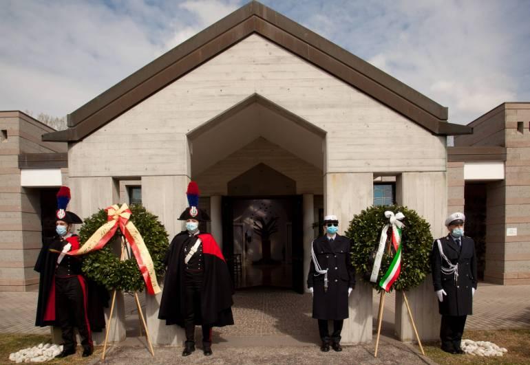 Cerimonia in Certosa per ricordare le vittime della pandemia